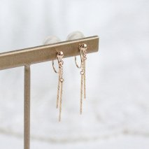 Bar Earrings | K10YG