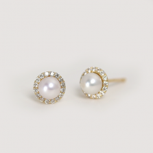 Pearl & Diamond Pierce | K18