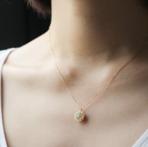 Opal & Pearl Flower Necklace | K18