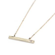 Bar Necklace | K10YG