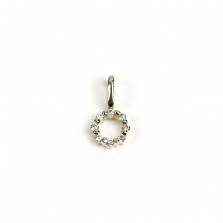 Tiny Diamond Circle Charm | K10YG