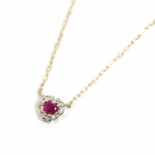 Ruby & Diamond Necklace | K10YG