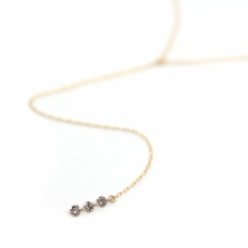 Nudie diamond Y Necklace | K10YG