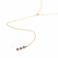 Nudy Diamond Y Necklace 0.1ct | K10YG