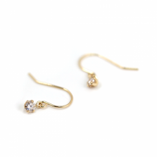 Diamond Hook Pierce 0.2ct | K18