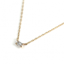 Baguette Diamond Necklace 0.02ct | K10YG