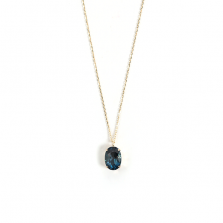 London blue topaz Necklace | K10YG