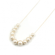 Cotton Pearl Necklace | K10YG