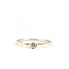 Round Diamond Ring | K10YG