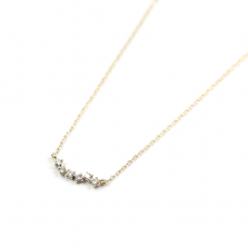 Tiny Cluster Diamond Necklace | K10YG
