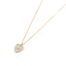 Hurt Motif Diamond Necklace | K10YG
