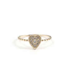 Heart Motif Diamond Ring | K10YG