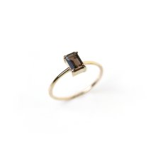Smoky Quartz Ring | K10YG