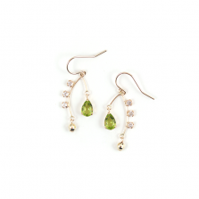 Peridot & White Topaz Pierce | K10YG