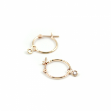 Diamond Hoop Pierce 0.06ct | K10YG