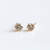 Champagne Diamond Pierce 0.3ct | K18