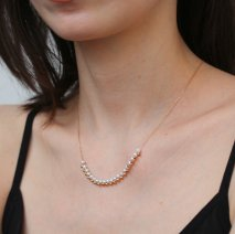 Pearl & Mirror Ball Necklace | K10YG