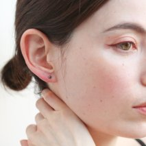 Black Diamond Pierce | K18<img class='new_mark_img2' src='//img.shop-pro.jp/img/new/icons57.gif' style='border:none;display:inline;margin:0px;padding:0px;width:auto;' />