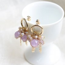 Lavender Amethyst & Pearl Pierce<img class='new_mark_img2' src='//img.shop-pro.jp/img/new/icons14.gif' style='border:none;display:inline;margin:0px;padding:0px;width:auto;' />