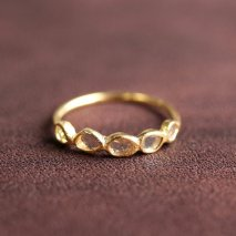 Slice Diamond Half Eternity Ring | K14YG