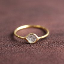Slice Diamond Ring | K14YG