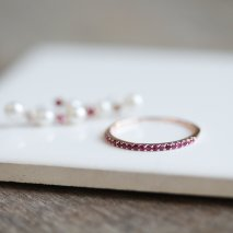 Ruby Half Eternity Ring | K10PG