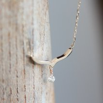 Nudy Diamond Necklace 0.05ct | K10YG