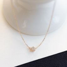 Diamond Double Hung Necklace 0.1ct | K10YG