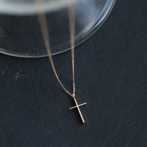 Cross Necklace | K10YG