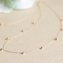 Mirror Ball Chain Station Necklace | K18