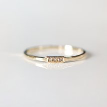 Triple Diamond Ring | K10YG