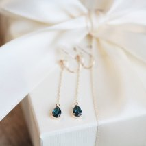 London Blue Topaz Earring | K10YG