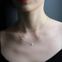 Opal & Pearl Necklace | K10YG