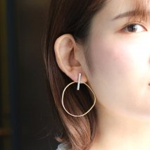 Combination Color Hoop Pierce | SV925(ロジウム/K24プレーテッド)<img class='new_mark_img2' src='//img.shop-pro.jp/img/new/icons14.gif' style='border:none;display:inline;margin:0px;padding:0px;width:auto;' />