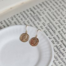 Coin Hook Pierce   K10YG