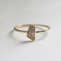 Motif Diamond Ring | K18