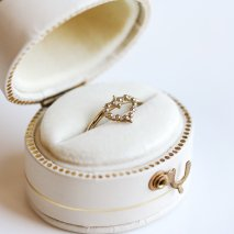 Heart Charm Ring | K10YG
