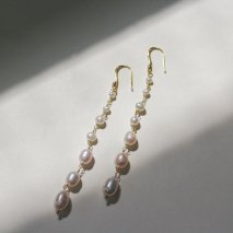 Crystal & Pearl Long Pierce