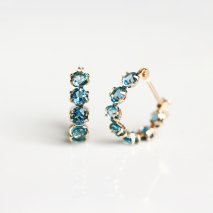 London Blue Topaz Hoop Pierce | K10YG<img class='new_mark_img2' src='//img.shop-pro.jp/img/new/icons14.gif' style='border:none;display:inline;margin:0px;padding:0px;width:auto;' />
