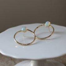 Opal Hoop Pierce   K10YG