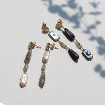 Lapis Lazuli / Quartz & Pearl Pierce
