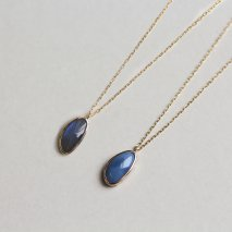 Blue Opal / Labradorite Necklace | K10YG