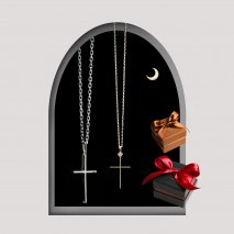 Cross Pair Necklace | K10YG/SV925<img class='new_mark_img2' src='https://img.shop-pro.jp/img/new/icons14.gif' style='border:none;display:inline;margin:0px;padding:0px;width:auto;' />