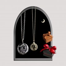 Coin Pair Necklace | K10YG/SV925<img class='new_mark_img2' src='https://img.shop-pro.jp/img/new/icons14.gif' style='border:none;display:inline;margin:0px;padding:0px;width:auto;' />