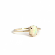 Oval Opal Ring | K10YG