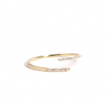 Diamond Hug Ring | K10YG