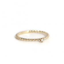Diamond Twisted Ring  | K10YG