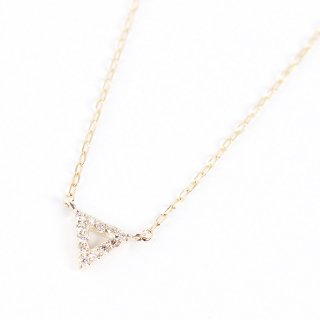 Triangle & Diamond Necklace | K10YG