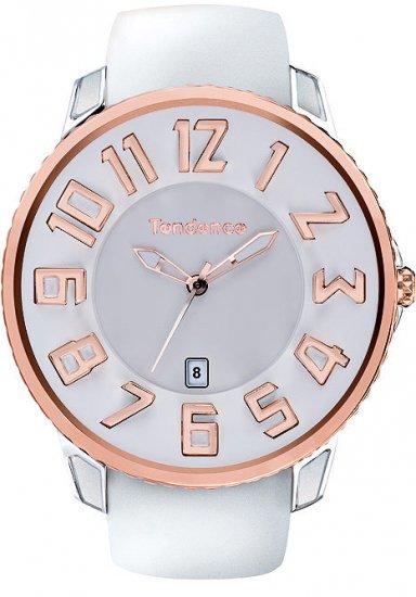 テンデンス スリム ホワイト×ゴールド 腕時計 メンズ レディース TG151004/TENDENCE SLIM ROSE GOLD/SILVER TS1510…