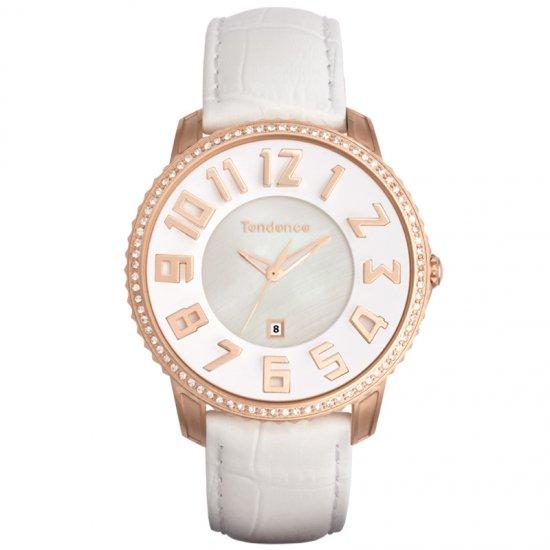 テンデンス スリム ホワイト×ゴールド 腕時計 メンズ レディース/TENDENCE SLIM 41 WHITE/GOLD TG132004 TE13200…